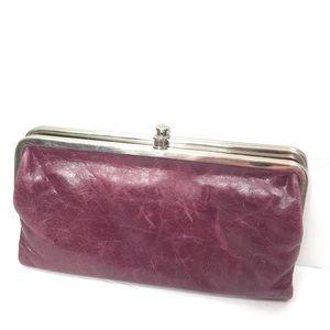 HOBO Lauren Bifold Leather Wallet in Cranberry